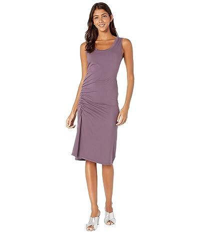Michael Stars Cotton Lycra Natalia Ruched Tank Dress (Acai) Women