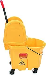 Rubbermaid Commercial 757788YW Wavebrake 35 Quart Bucket/Wringer Combinations, Yellow
