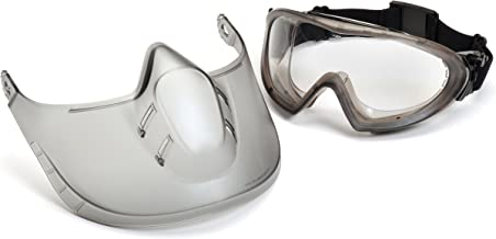 Pyramex Capstone Shield Safety Goggles and Face Shield for Full-Face Protection