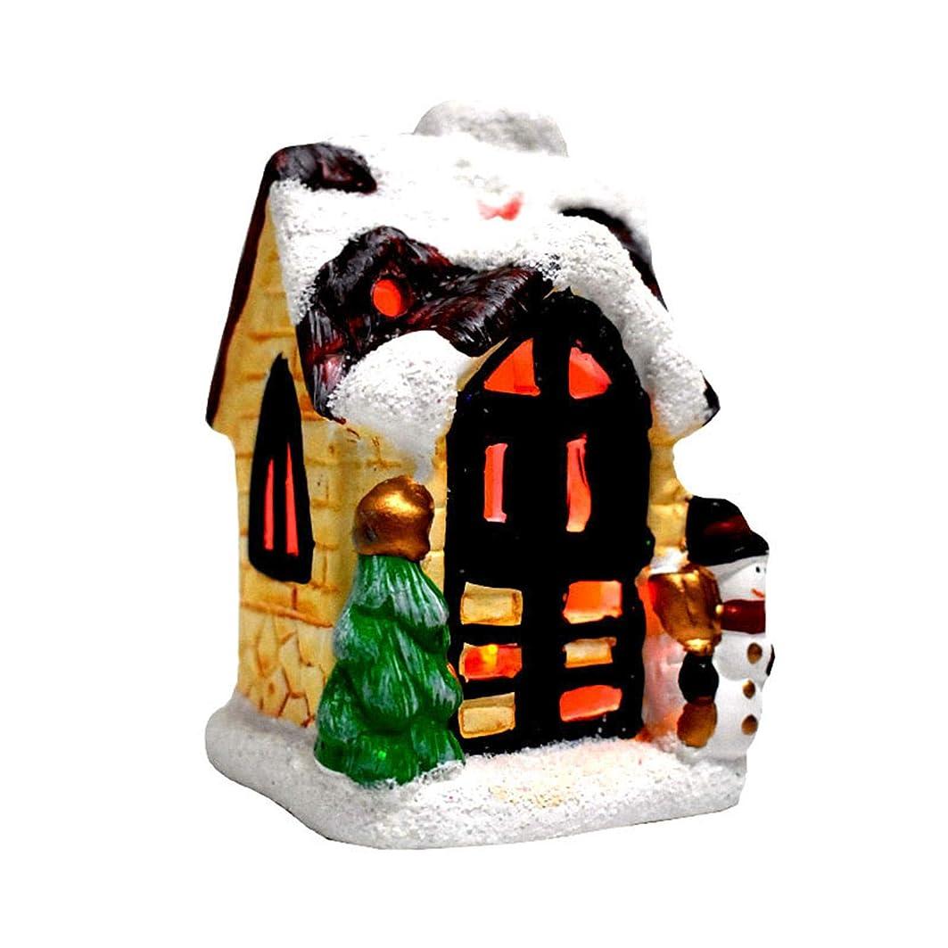 ファッション憤るファントムクリスマスファンタジースノーシーンハウスルミナスハット夢のようなヨーロピアンスタイルの卓上ハウスサンタの家クリスマスギフトデコレーション ハウス卓上ハウスクリスマスギフト家の装飾LEDライトクリスマスハウス