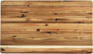 Villa Acacia Extra Large Wood Cutting Board 30 x 18 x 1.5 Inches Thick with Premium Edge Grain Construction