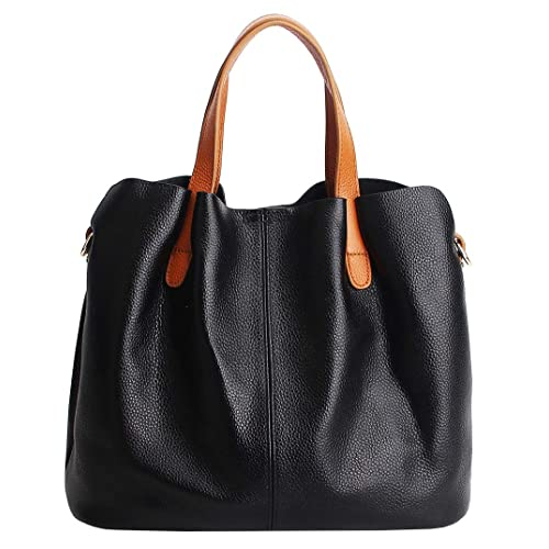 9f914aac4c Molodo Womens Satchel Hobo Top Handle Tote Genuine Leather Handbag Shoulder  Purse
