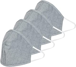 Uptownie Lite Reusable and Washable 4 Ply Cotton Cloth Mouth,Nose,Face Mask, Free Size (Grey)