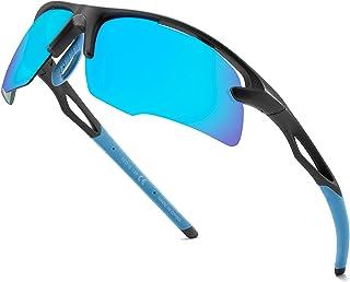 عینک آفتابی ورزشی مردانه دوچرخه سواری پلاریزه -UVA / UVB Protection -TR90 قاب نشکن - ایده آل برای دوچرخه سواری در حال دویدن