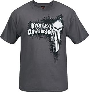 Harley-Davidson Military - Men's Short-Sleeve Smoke Grey Graphic T-Shirt - Bagram Air Base | Can Be Bad