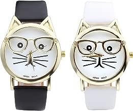 cat face quartz watch
