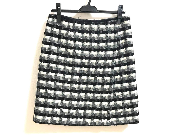 (ミュウミュウ)MIUMIU スカート 巻きスカート レディース アイボリー×黒×グレー 【中古】