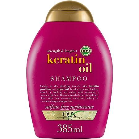 OGX Anti-Rottura Shampoo, Olio di Cheratina, per Capelli con Doppie Punte 385 ml