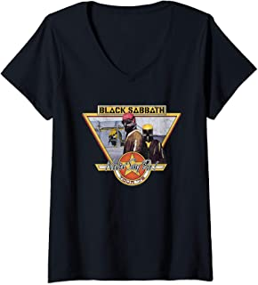 Womens Black Sabbath Official Never Say Die Tour '78 V-Neck T-Shirt