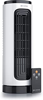 Brandson - Ventilador silencioso de Torre Compacto con Temporizador y Tele comando, Certificado GS, 3 Niveles de Velocidad, Oscilación 60 Grado, Potencia 20 W, Tamaño 31.5 cm