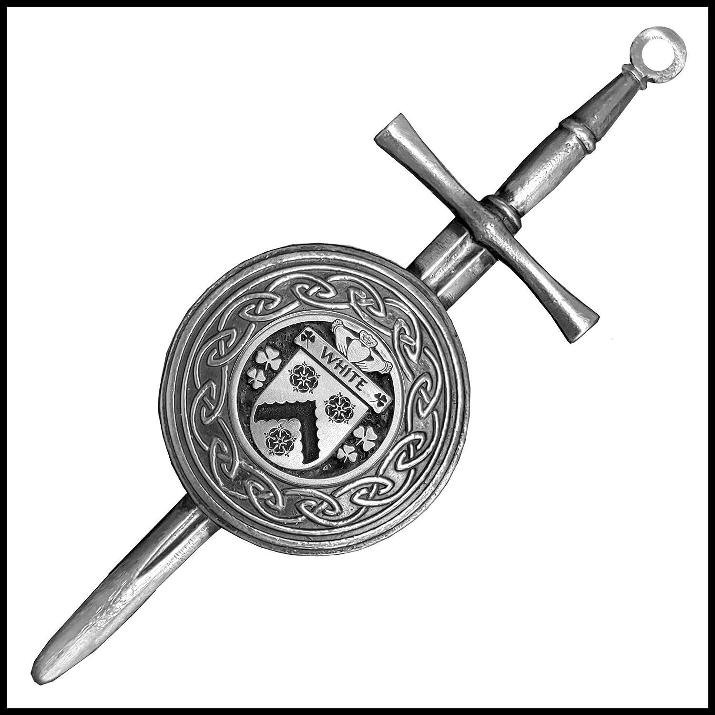 White Irish Max 85% OFF Dirk Coat Of Kilt Pin Shield Los Angeles Mall Arms