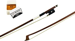 Classic Pernambuco Cello Bow 3/4 Size With FREE Rosin for Bow Hairs and Ebony Frog - Well Balanced - Light Weight - Real Mongolian Horse Hair (Cello 3/4)