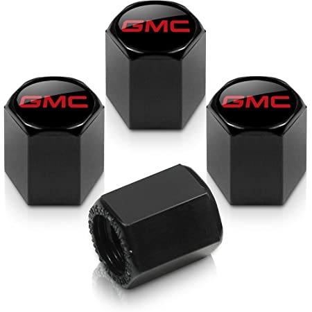Elite Automotive Products Inc Logo Tire Stem Valve Caps for GMC