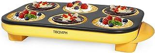 Triomph ETF1613 Crêpière de Table Jaune 1500 W Plaque de 6 Empreintes