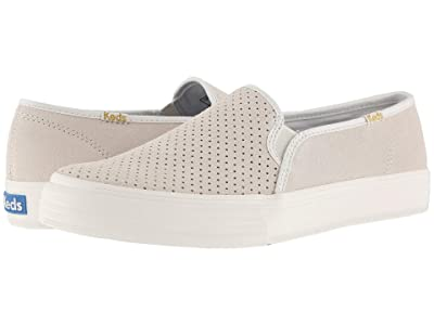 Keds Double Decker Perf Suede (Snow White) Women