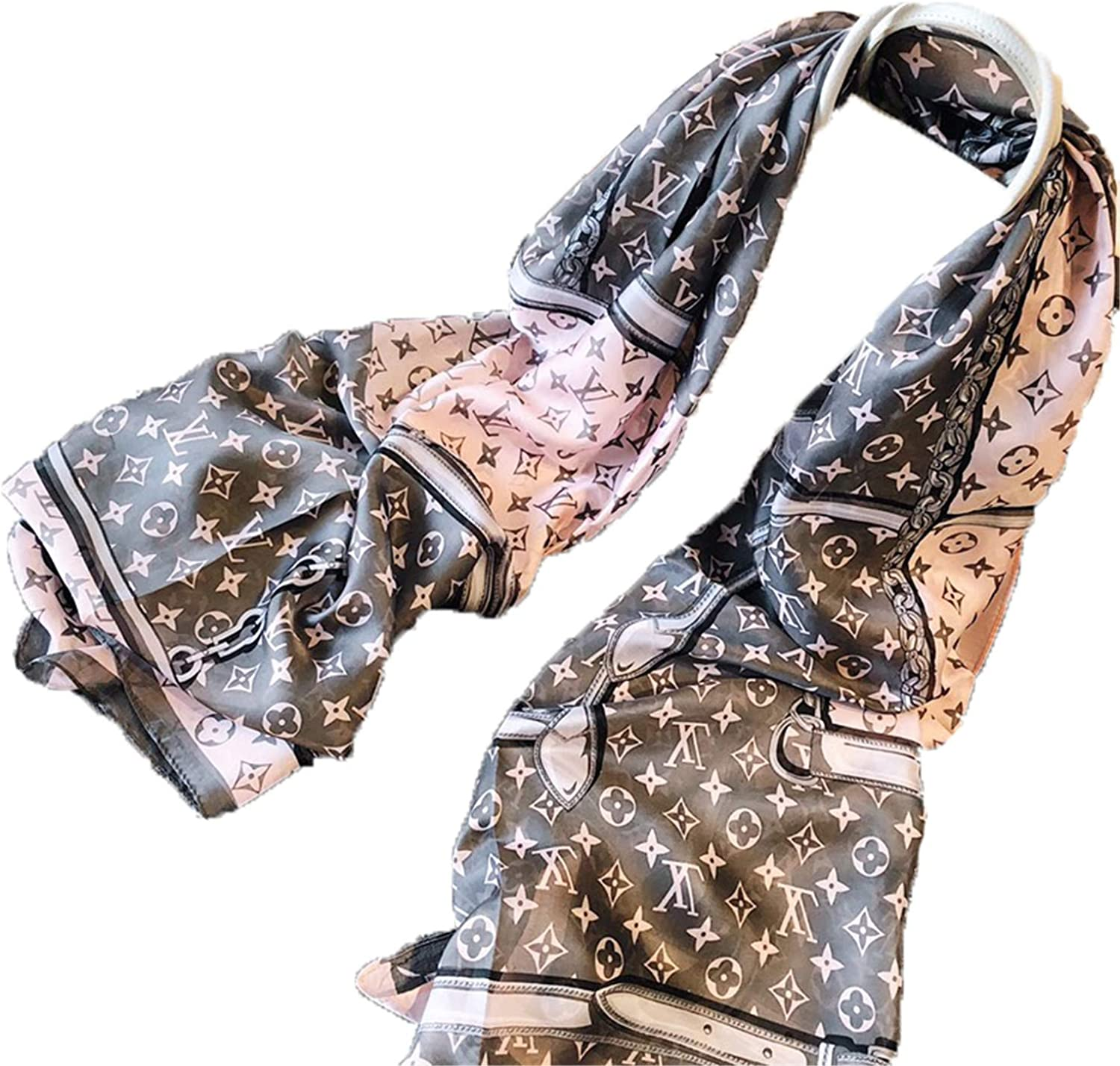 Fashion luxury silk scarves are suitable for women and men in four seasons. Luxury gifts are comfortable to wear anywhere (Z33)