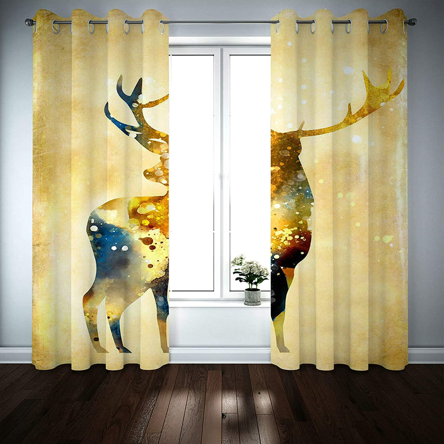 MoAndy Blackout Curtains for Bedroom El Paso Mall 2 45 52 Max 52% OFF Panels Wind x Inch