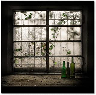 Still-Life With Glass Bottle by Vito Guarino, 35x35-Inch Canvas Wall Art