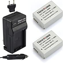 Newmowa NB-7L Replacement Battery (2-Pack) and Charger kit for Canon Powershot SX30 is, G12, G11, G10, CB-2LZ