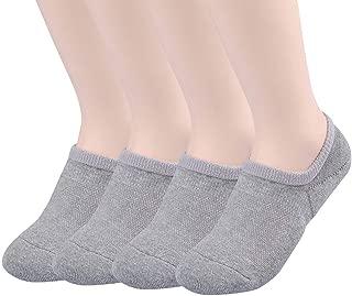 TETIBA Thick Cushion Cotton No Show Athletic Sport Socks 3 Sizes Men & Women With Non Slip