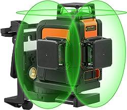 iYoung 3D 12 l/íneas Verde l/áser Niveles con 3 Luces l/áser autonivelaci/ón 360 /° Cobertura Horizontal y Vertical l/ínea de Cruce Verde l/áser Cruce l/ínea de Cruce l/áser con Base pivotante magn/é