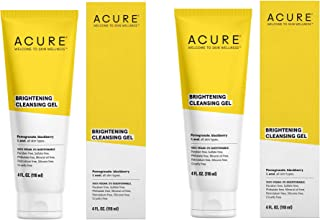 Acure Superfruit and Chlorella Growth Factor Organic Natural Face Wash Cleanser, 4 fl. oz Pack of 2