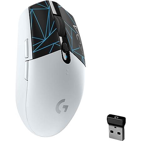 Logitech G305 K/DA LIGHTSPEED Ratón inalámbrico Gaming, Equipo Oficial de League of Legends, Sensor Hero, Ligero, Botones programables, 250h de batería, Memoria integrada - Blanco