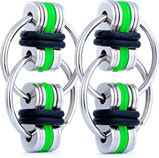 Fancy Home 2 Pack Anti-Anxiety Fidget Chain Gadgets Toy Stress Reducer for Autism, ADD, ADHD, and Autism Boredom Your Finger Tips Green