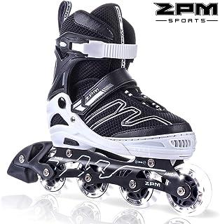 2PM SPORTS Exthrax Kids Adjustable Inline Skates with Light up Wheels, Fun Flashing Illuminating Roller Skates for Boys Girls, Men and Ladies