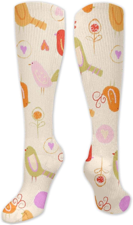 Bird Lover Knee High Socks Leg Warmer Dresses Long Boot Stockings For Womens Cosplay Daily Wear