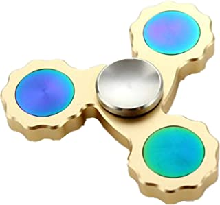Super Long Standby Metal Tip Helical Gear Side Hand Spinner Gold