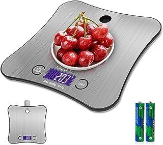 ADORIC Báscula de Cocina de Acero Inoxidable, 5kg / 11 lbs, Balanza de Alimentos Multifuncional,báscula de baño Peso de Co...