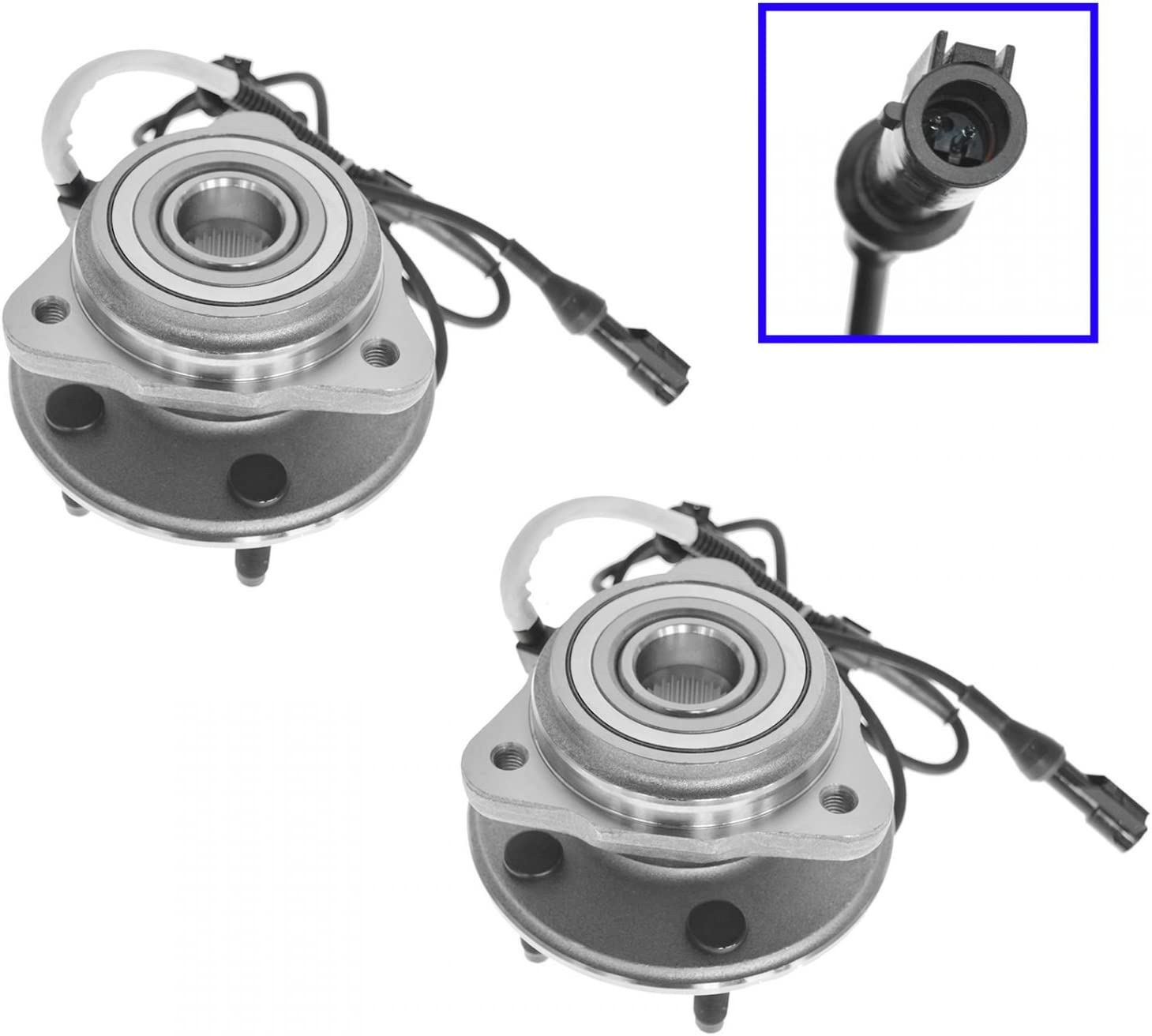 Front 2021new shipping free Wheel Hubs Bearings Pair Set 4W Max 54% OFF Mountaineer for Explorer