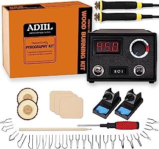 Sponsored Ad - ADIIL Wood Burning Kit, Wood Burning Tool, Adjustable Temperature Pyrography Pen Kit, Professional Wood Bur...