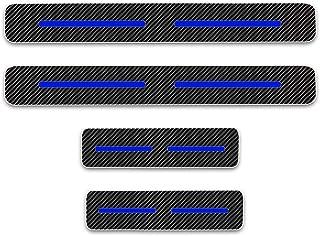 Car Styling 4PCS Carbon Fiber Vinyl Sticker Car Door Sill Door Entry Scuff Plates for KIA Forte Parts Accessories Stickers