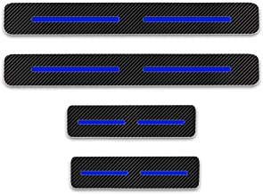 SLONG for Toyota Yaris 4PCS Car Door Sill Protector Sticker Carbon Fiber Vinyl Stickers Car Styling Auto Accessories
