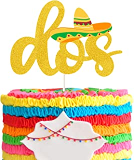 Dos Fiesta Cake Toppers , Cince de Mayo Party Decor,Taco Twosday Birthday.Second Birthday Decoration Supplies