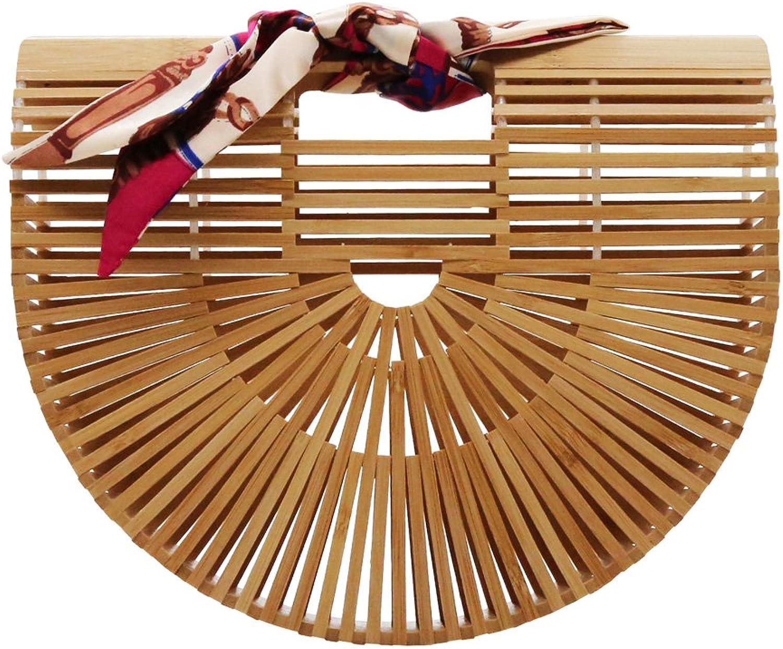 Sweetypink Womens Bamboo Handbag Handmade Tote Summer Beach Bag