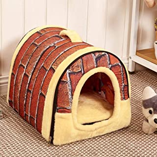 Mumoo Bear Dog House Kennel Nest With Mat Foldable Pet Dog Bed Cat Bed House
