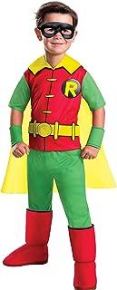 Rubie's Costume Boys DC Comics Deluxe Robin Costume, Small, Multicolor
