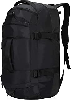 LOTILE Convertible Duffel Backpack 65L,Carry-on Luggage Gym Bag for Men with Shoe Compartment Black