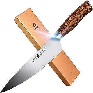 TUO Cutlery 8-inch Chefs Knives - Kitchen Chef Knife - German HC Steel - Premium Pakkawood Handle - Fiery Phoenix Series