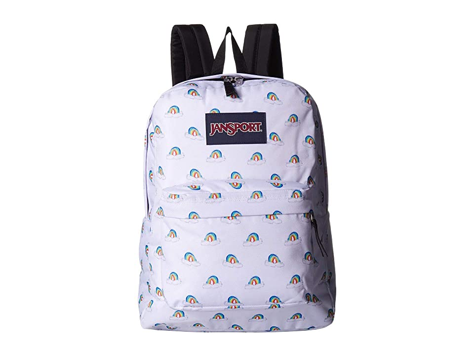 differently the cheapest good texture JanSport SuperBreak(r) (White Monstera Leaves) Backpack Bags ...