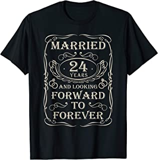 24th Wedding Anniversary Gifts for Him Her Couples T-Shirt
