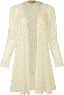 Long Sleeve Drape Cardigan Lace Bolero Cover Up Shrug for Women