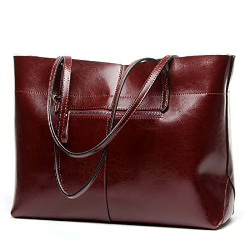Covelin Women s Handbag Genuine Leather Tote Shoulder Bags Soft Hot 4e441a6c82f88