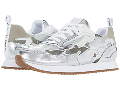 Schutz Penny (Prata/White/Ciment) Women