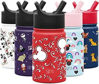 Simple Modern 10oz Disney Summit Kids Water Bottle Thermos with Straw Lid - Dishwasher Safe Vacuum Insulated Double Wall Tumbler Travel Cup 18/8 Stainless Steel - Disney: Mickey Bandana