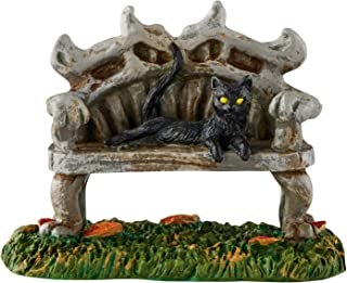Department 56 Halloween Accessories for Village Collections Black Cat Bench Figurine, 2.88 Inch, Multicolor