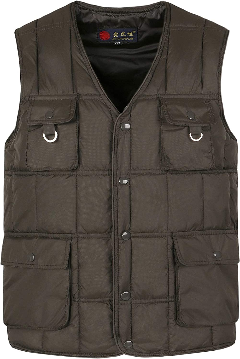XFentech Middle-Aged Brand Cheap Sale Raleigh Mall Venue Waistcoat - Men's H Jacket Vest for Camping